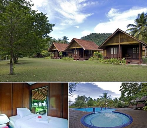 Aseania Beach Resort Pulau Besar with swimming pool