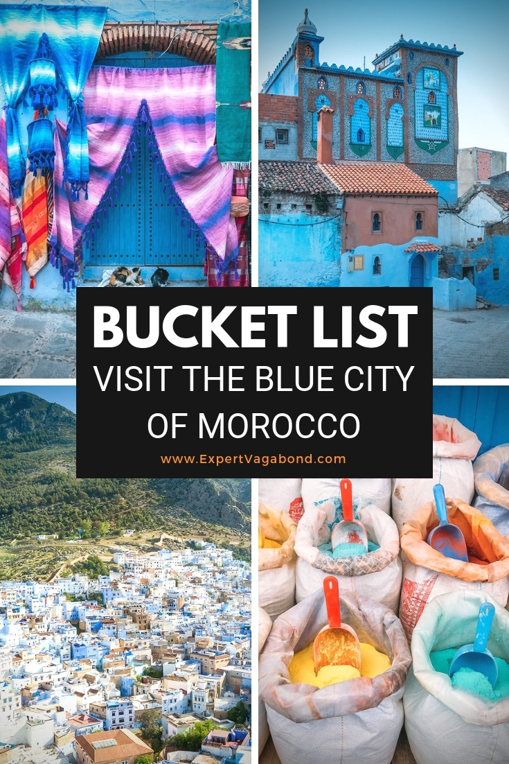 Things to do in Chefchaouen! Morocco's mysterious blue city. More at ExpertVagabond.com