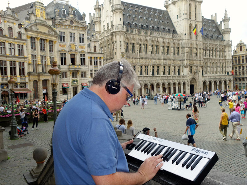 irig Keys Pro in Brussels Grand Place