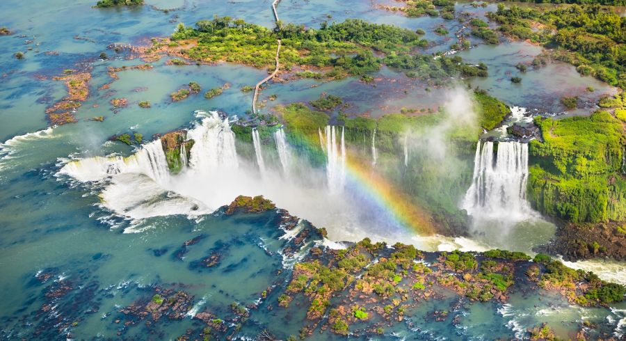 Enchanting Travels South America Tours Aerial View of Iguazu Falls