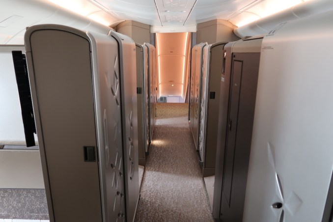 SINGAPORE AIRLINES A380 FIRST CLASS CABIN