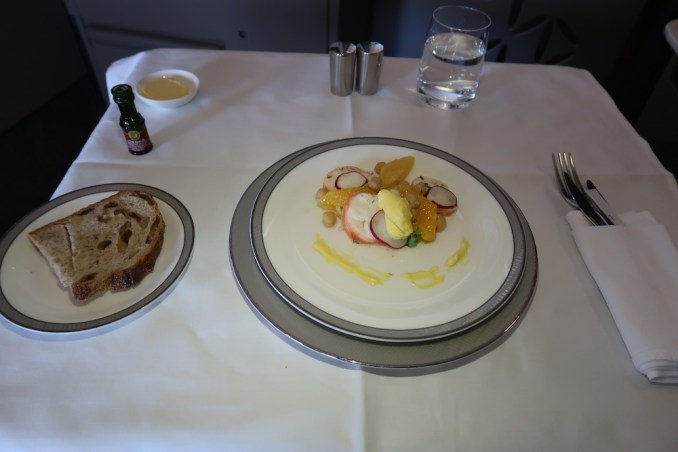 SINGAPORE AIRLINES A380 FIRST CLASS - LUNCH