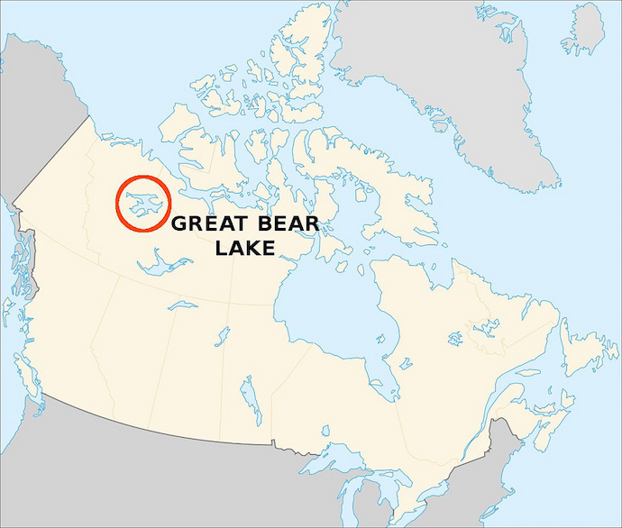 Largest Lake in Canada - Great Bear Lake, North America