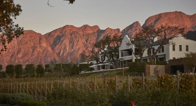Enchanting Travels South Africa Tours Winelands Hotels Leeu Estates manor_house_on_leeu_estates_from_vineyards_2